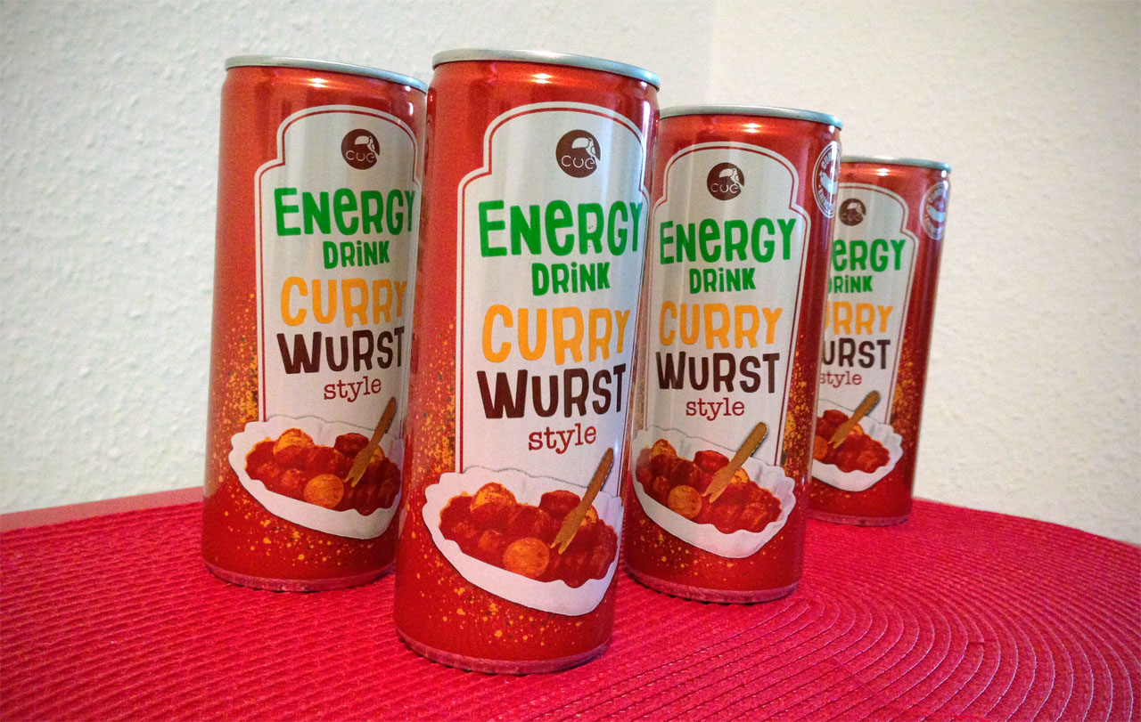 CUE Energy-Drink Currywurst-Style